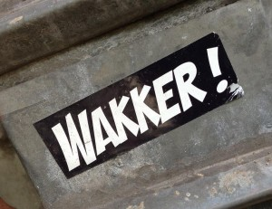 sticker wakker Amsterdam 2013