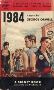 Orwell '1984', 'war = peace freedom = slavery ignorance =  strength'