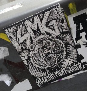sticker Siberian meat grinder SMG Amsterdam 2013