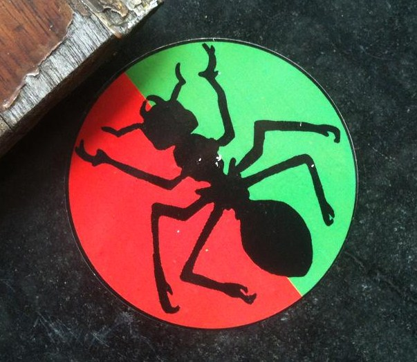 ant sticker red green Amsterdam