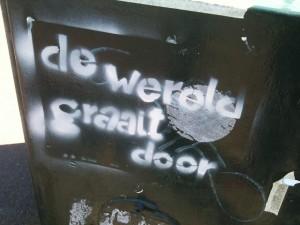 de wereld graait door graffiti Amsterdam