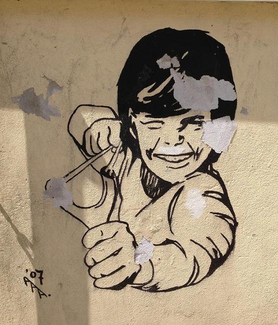 graffiti catapult boy aaa 07 Amsterdam 2013 katapult