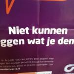 poster dementie 'niet kunnen zeggen wat je denkt'