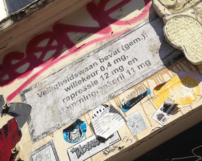 poster veiligheidswaan repressie Amsterdam