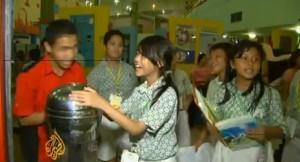schoolklas Indonesië natuurwetenschappen