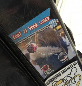 sticker Bont is voor losers Amsterdam