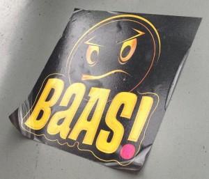 sticker baas Utrecht 2013