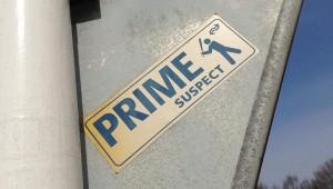 sticker prime suspect NS Nederlandse Spoorwegen Amsterdam