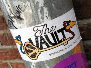 sticker break the vault Amsterdam 2013
