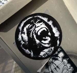 sticker gorilla Bust Amsterdam