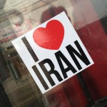 sticker i love Iran Amsterdam