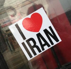 sticker i love Iran Amsterdam