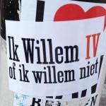 sticker ik Willem IV of ik willem niet Amsterdam