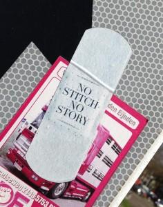 sticker no stitch no story Amsterdam pleister