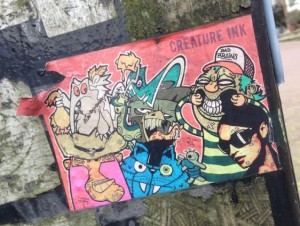 Creature Ink sticker Amsterdam Cntr 2015 Holland Bad Brains street-art