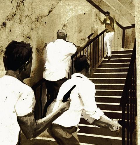 Mumbai Confidential stairs guns