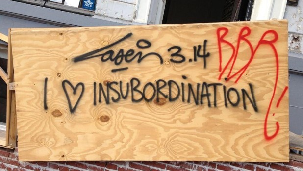 graffiti Laser 3.14 i love subordination Amsterdam center 2013 August