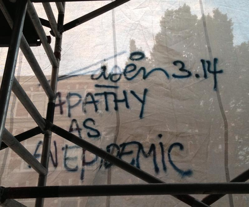 graffiti Laser3.14 Amsterdam July 2013 apathy as an epidemic