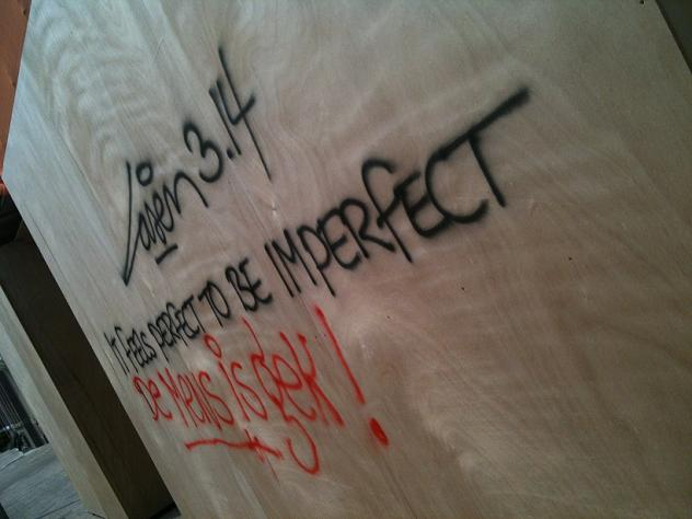 graffiti Laser3.14 in feels perfect to be imperfect Amsterdam