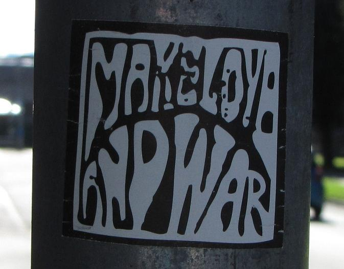 make love and war sticker Baltic region