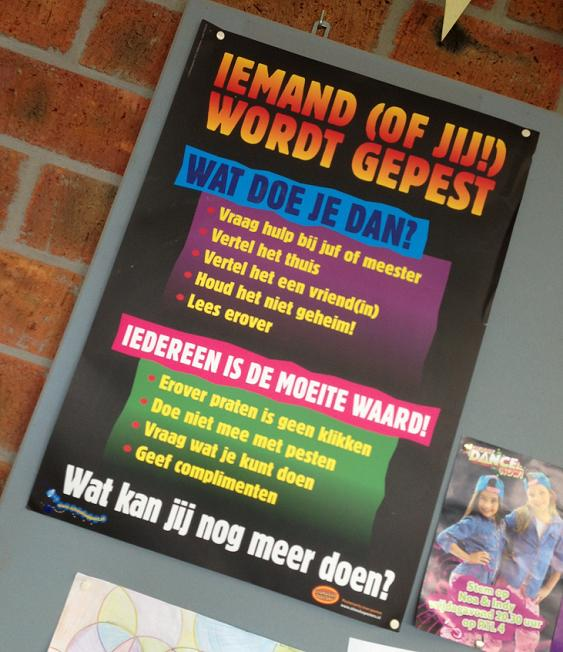 poster tegen pesten op school