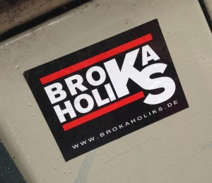 sticker Brokaholiks Amsterdam art