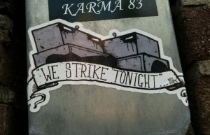 sticker Lisk we strike tonight Amsterdam