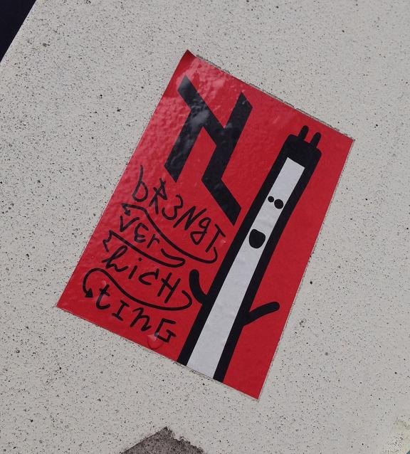 sticker TL geeft verlichting Utrecht 2013