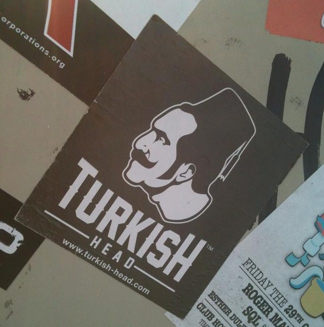 sticker 'Turkish head'