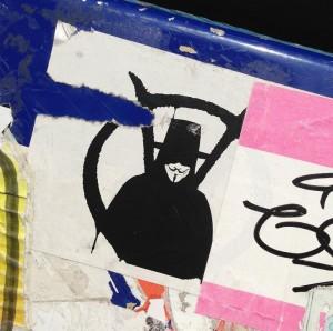 sticker V for vendetta Amsterdam Anonymous