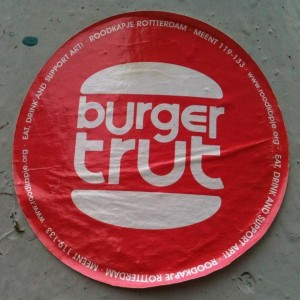 sticker burger-trut Amsterdam