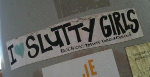 sticker i love slutty girls Amsterdam