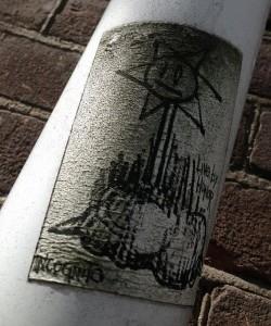 sticker incognito live by honor Amsterdam art