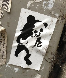sticker pedo bear black white Amsterdam