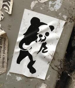sticker pedo bear black white Amsterdam