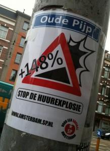 sticker stop de huurexplosie Oude Pijp