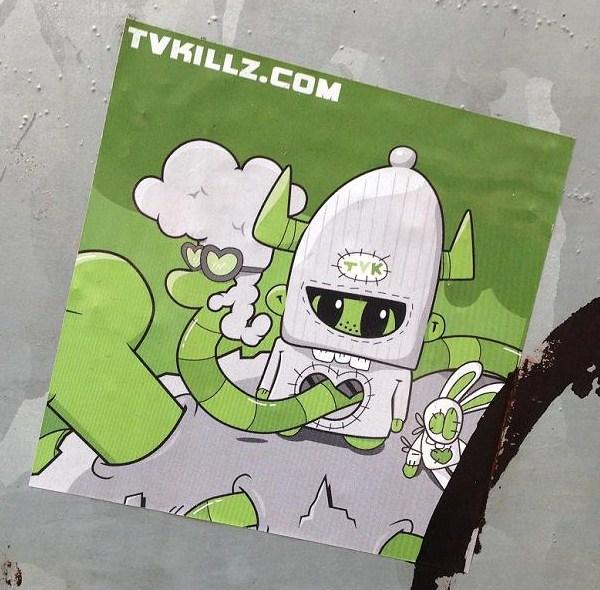 sticker tvkillz.com Amsterdam