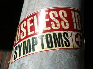 sticker 'useless id symptoms +'
