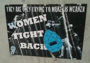 sticker 'women fight back'