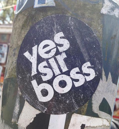 sticker yes sir boss Amsterdam
