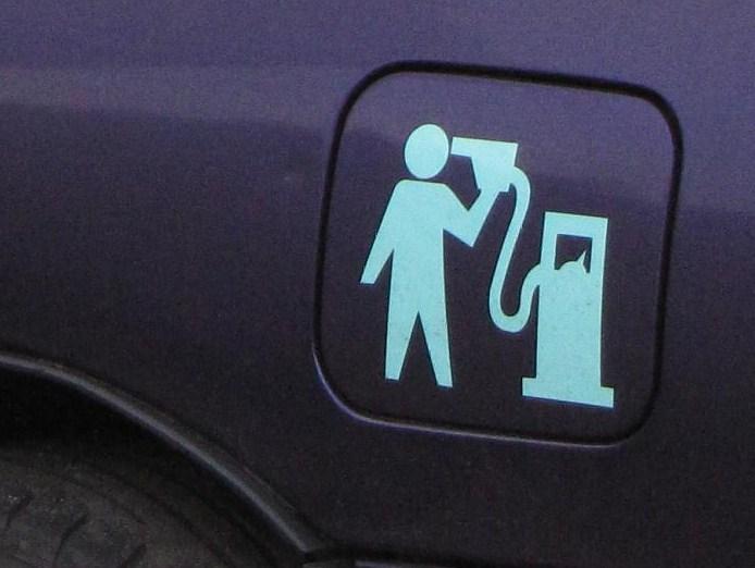 sticker zelfmoord mbv benzinepomp