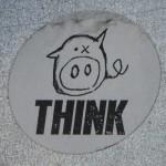 sticker 'zwijntje think'
