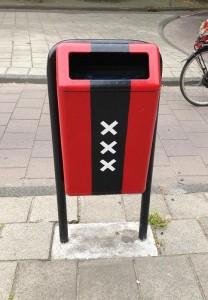 vuilnisbak Amsterdam 2013 logo 3 kruizen