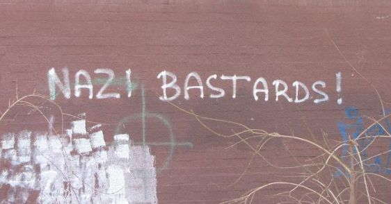 Nazi bastards graffiti Boedapest 2012
