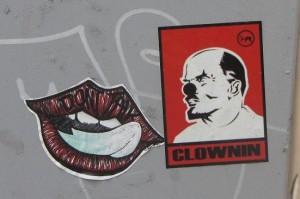 Riga sticker Clownin Lenin