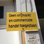 bord verbod vrijmarkt Amsterdam De Pijp