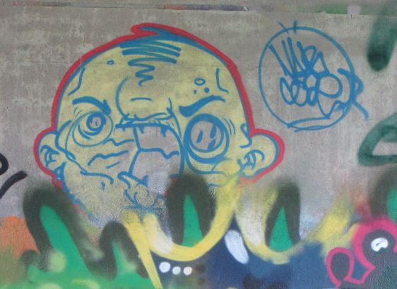 graffiti Narcoze Amsterdamse Brug Amsterdam 2014 May Holland