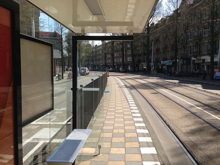 hekken Roelof Hartplein halte tram