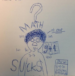 math sucks drawing child tekening kind