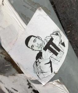sticker π pi  Amsterdam 2013